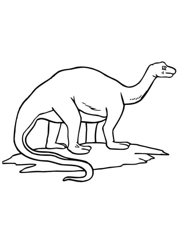 Apatosaurus, : Gigantic Animal Apatosaurus Coloring Pages