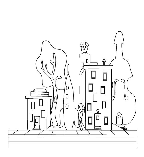 Apartment, : House of Oswald Apartment Coloring Pages