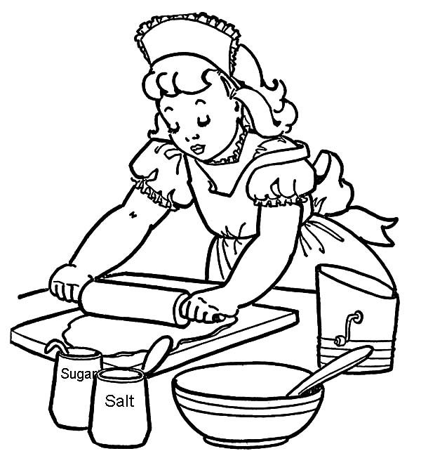 Baking Cookies, : How to Baking Cookies Coloring Pages