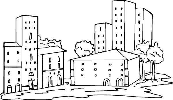 swanston apartment academic building coloring pages
