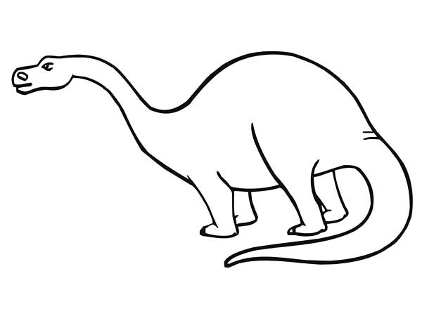 Apatosaurus, : How to Draw Apatosaurus Coloring Pages