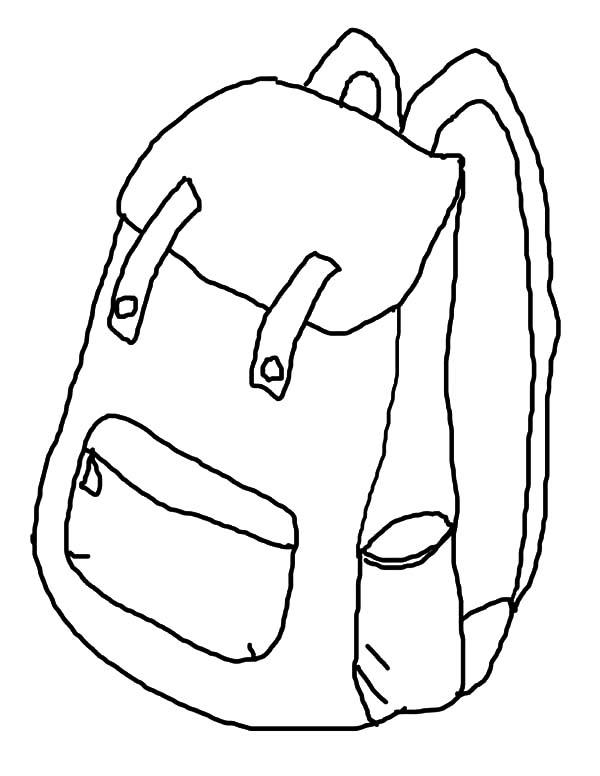 How to draw backpack coloring pages how to draw backpack for Backpack coloring page