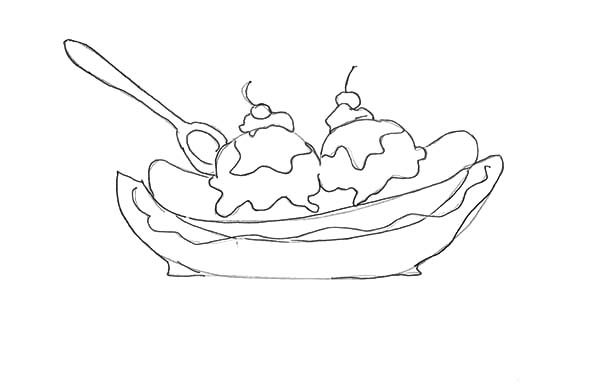 banana split how to draw banana split coloring pages