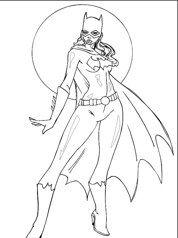Batgirl, : How to Draw Batgirl Coloring Pages