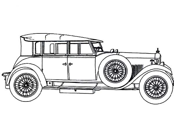 Antique Car, : Inspiring and Memorable Design of an Antique Car Coloring Pages