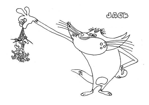 Oggy and the Cockroaches, : Jack Catch All the Cockroaches in Oggy and the Cockroaches Coloring Pages