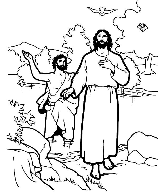 coloring pages of jesus life | The Air Of Gospel Of Matthew Pages Birds Coloring Pages