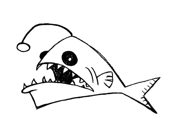 Angler Fish, : Kids Drawing Angler Fish Coloring Pages