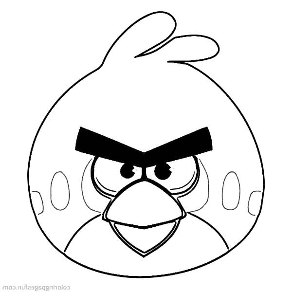 Angry Bird, : Leader of Angry Bird Coloring Pages