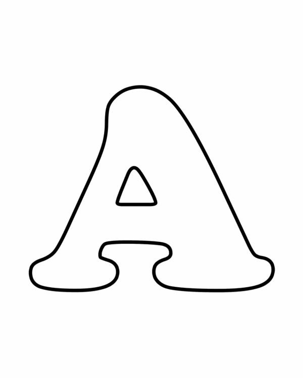 Letter A, : Learning Letter A Coloring Page for Preschool Kids