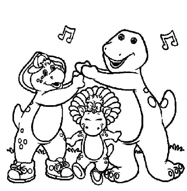 Barney, : Lets Have Some Fun with Barney and Friends Coloring Pages