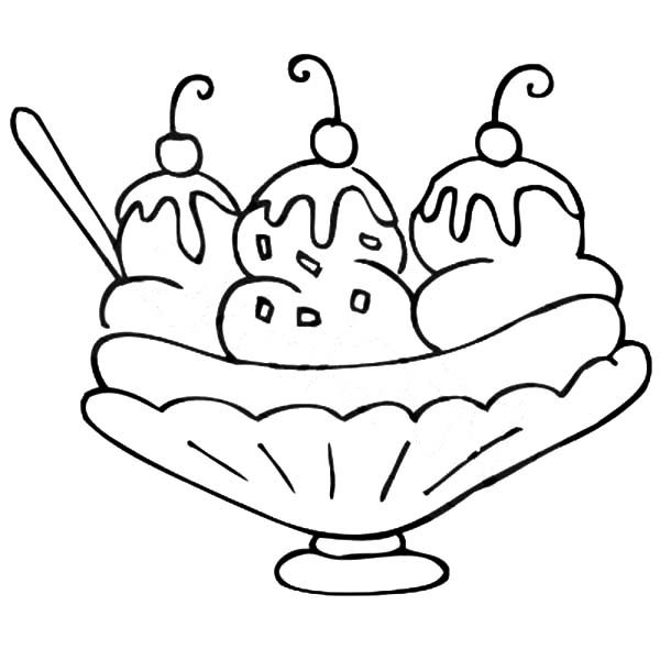 Banana Splits - Free Colouring Pages