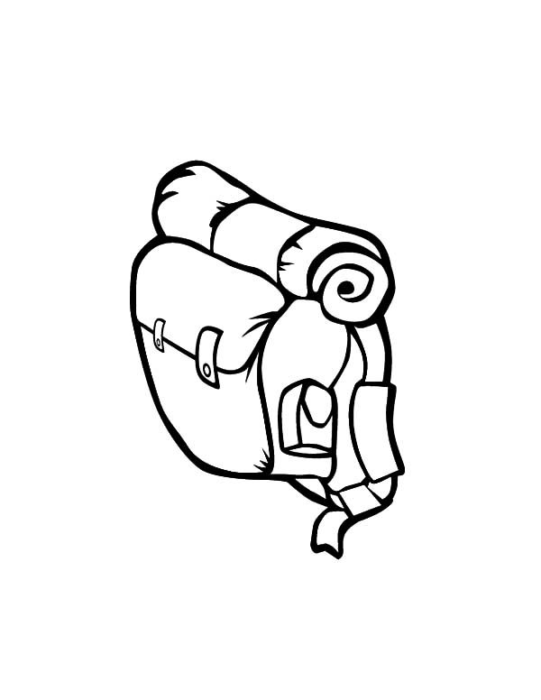 Backpack, : Lets Travel Backpack Coloring Pages
