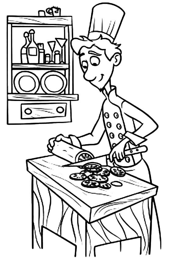 Baking Cookies, : Linguini is Baking Cookies Coloring Pages