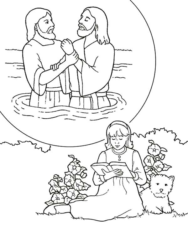 Baptism, : Looking at My Baptism Photo Coloring Pages