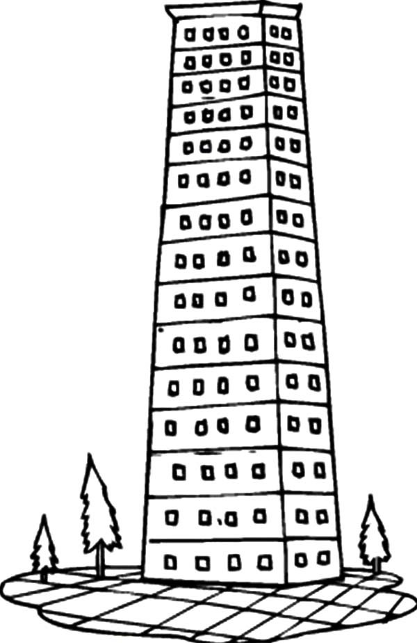 Apartment, : Luxury Apartment in the City Coloring Pages
