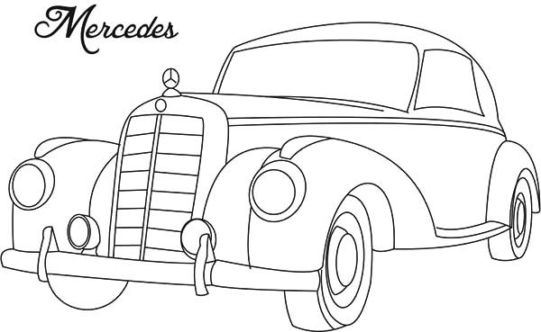 Antique Car, : Mercedes Antique Car Coloring Pages