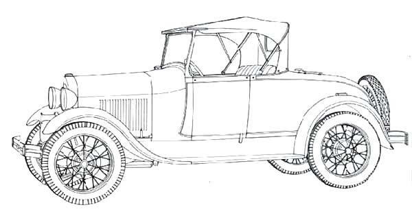 model a ford antique car coloring pages