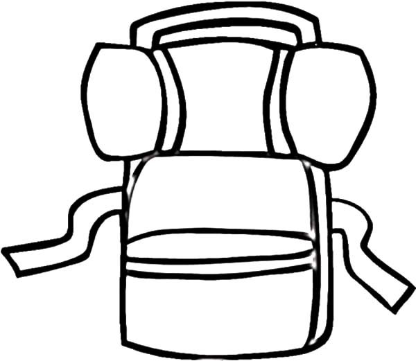 Backpack, : Mountain Lover Backpack Coloring Pages