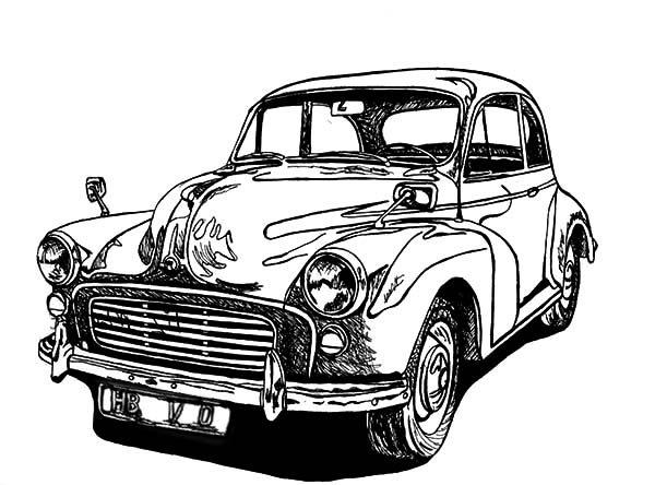 Antique Car, : Muscle Antique Car Coloring Pages