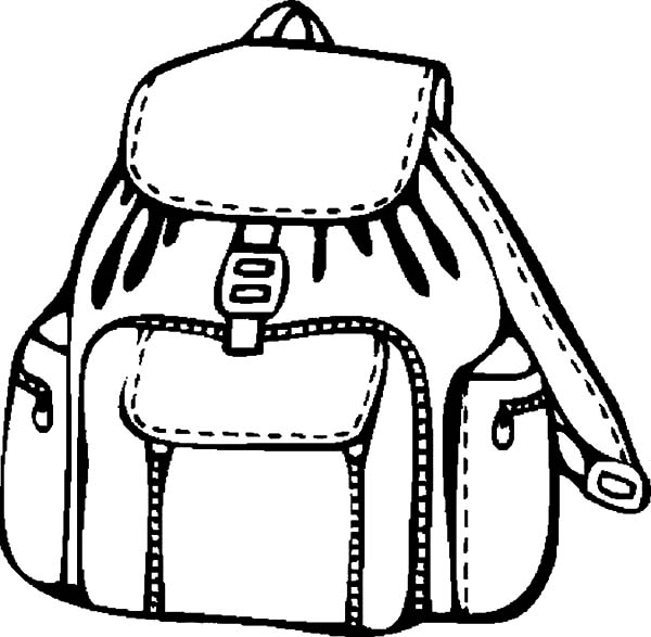 Backpack Coloring: Coloring Simple Backpack Coloring Pages