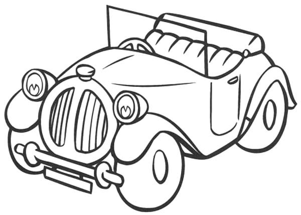 Antique Car, : Noddys Antique Car Coloring Pages