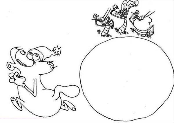Oggy and the Cockroaches, : Oggy Running Away from Cockroaches in Oggy and the Cockroaches Coloring Pages