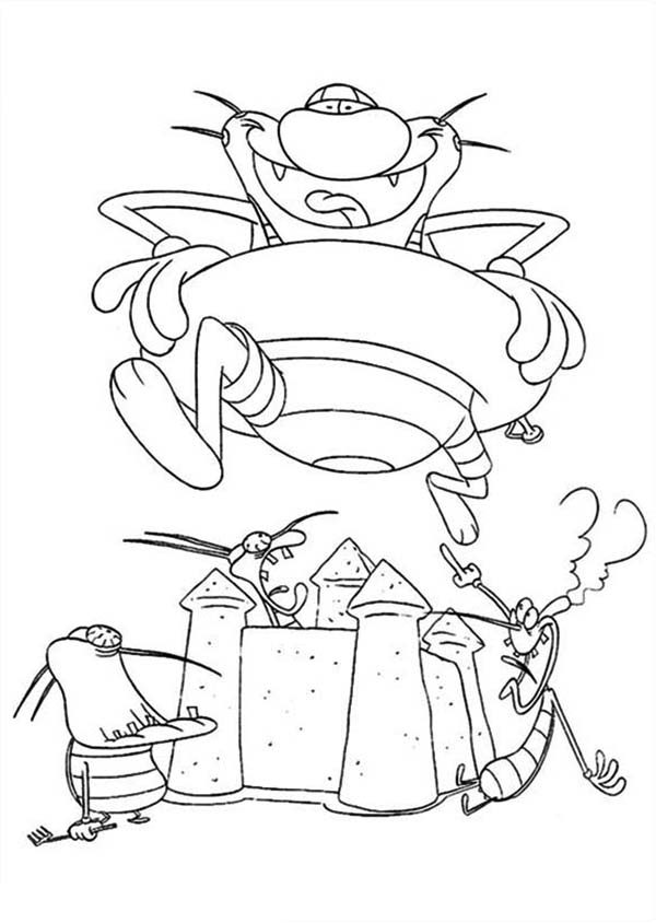 Oggy and the Cockroaches, : Oggy and the Cockroaches Image Coloring Pages