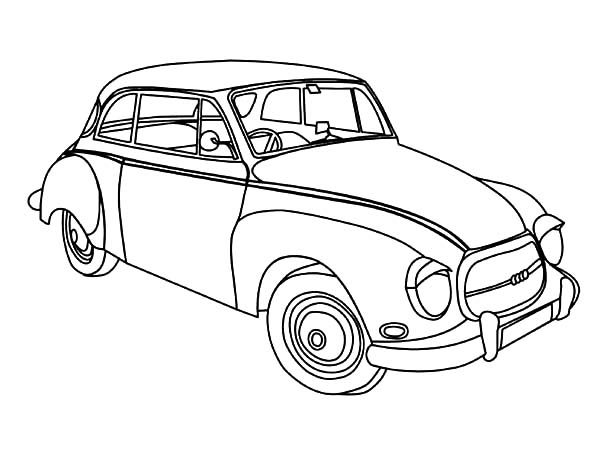 Antique Car, : Oldsmobile 1956 Antique Car Coloring Pages