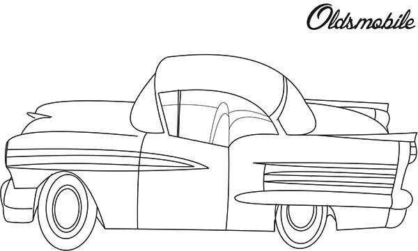 Antique Car, : Oldsmobile Antique Car Coloring Pages