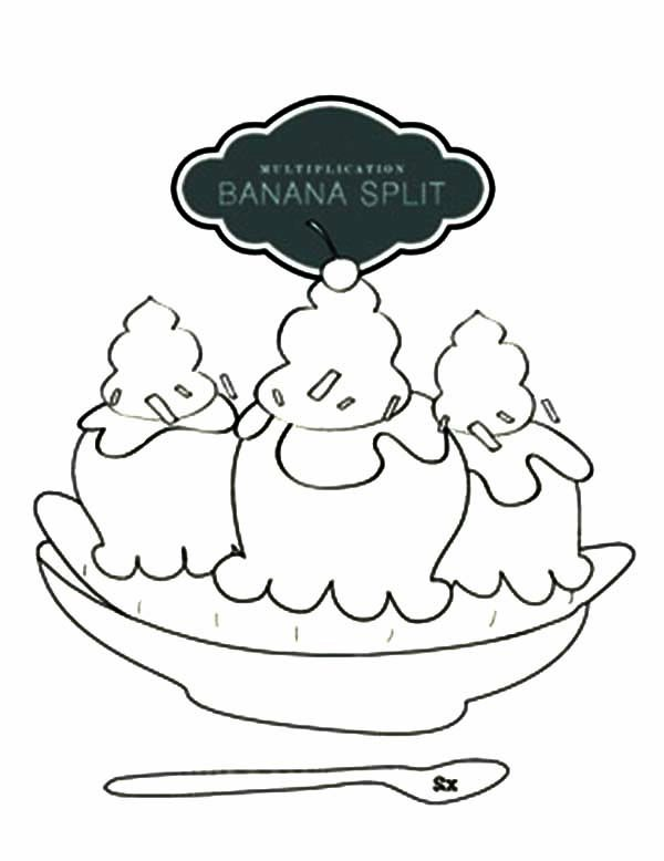 Banana Split, : Original Banana Split Coloring Pages