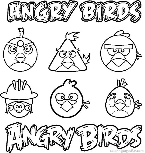 Angry Bird, : Picture of Angry Bird Characters Coloring Pages