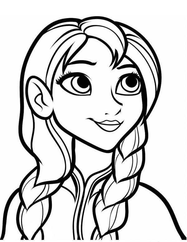 Anna, : Picture of Princess Anna Coloring Pages