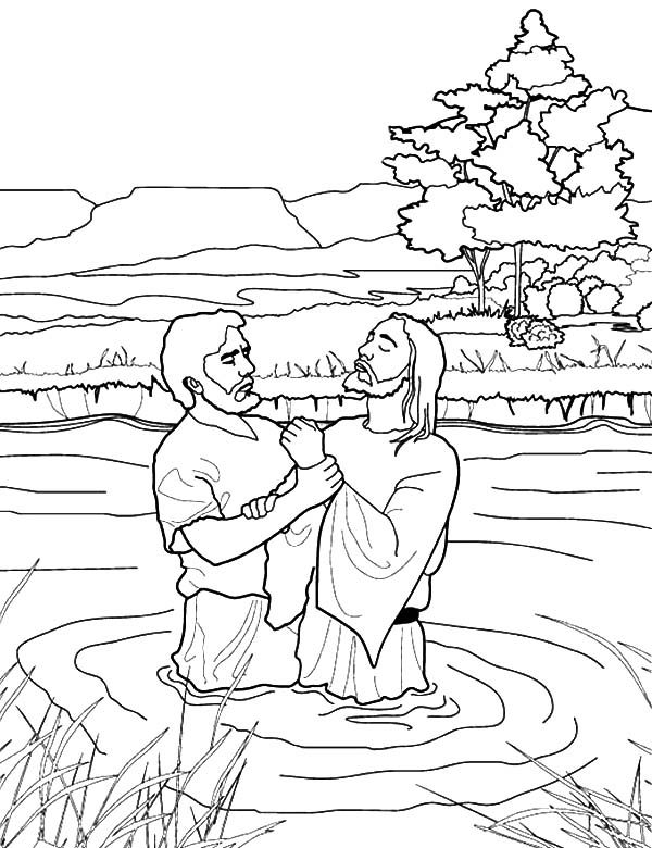 Baptism, : Praying to God Almighty After Baptism Coloring Pages