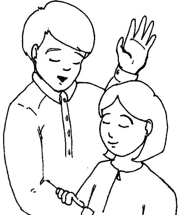 praying to jesus in baptism ceremonial coloring pages