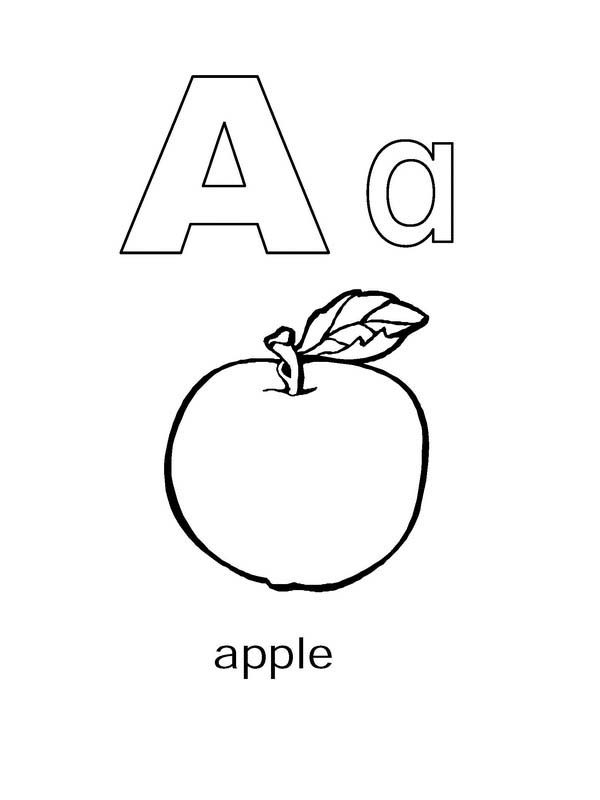 Preschool Kids Learning Letter A Coloring Page : Best ...