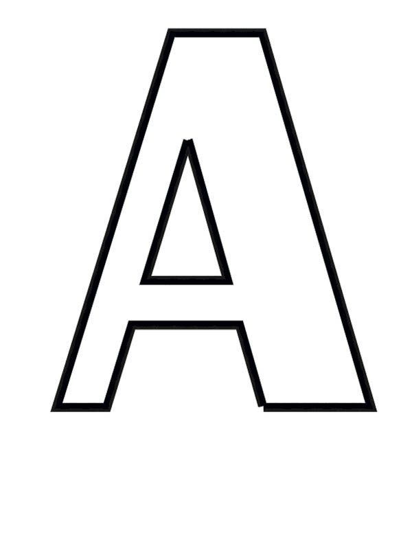 Letter A, : Preschool Learn Letter A Coloring Page