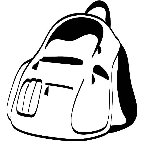 Backpack, : Preschooler Backpack Coloring Pages