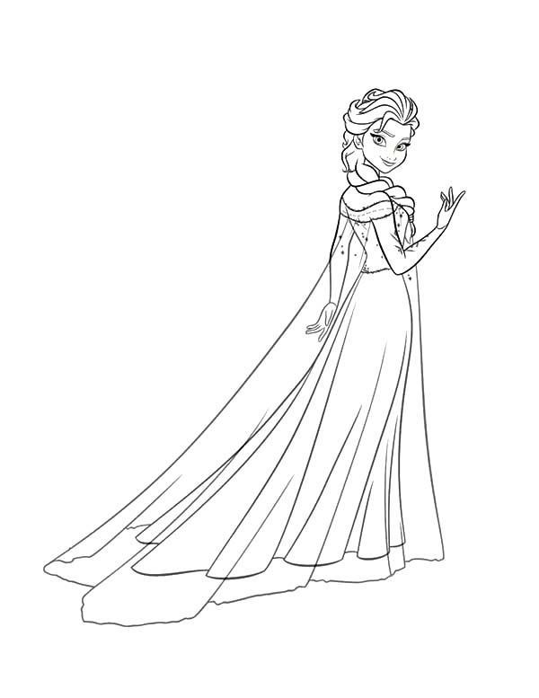 Princess Anna Beautiful Queen Elsa Coloring Pages
