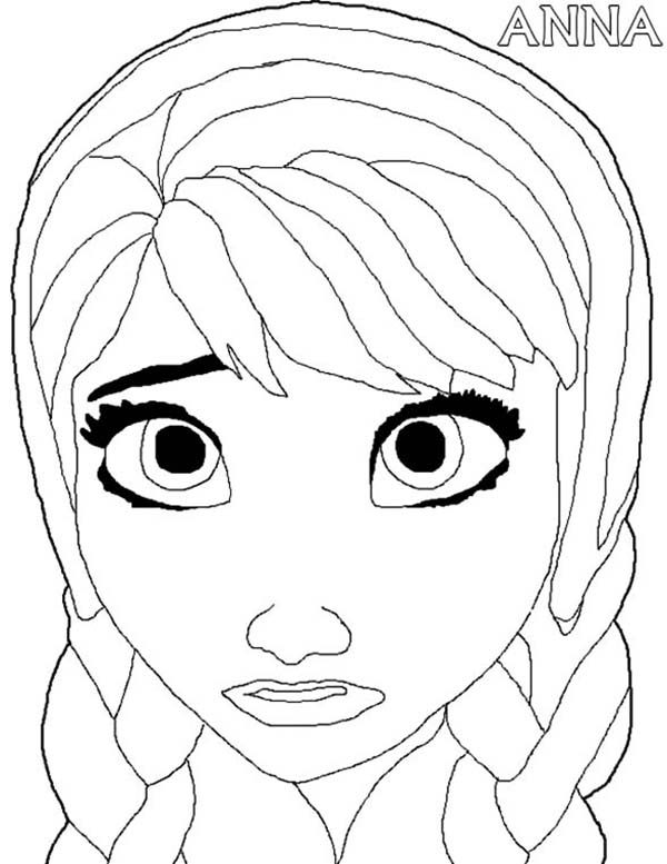 Anna, : Princess Anna Feeling Sad Coloring Pages