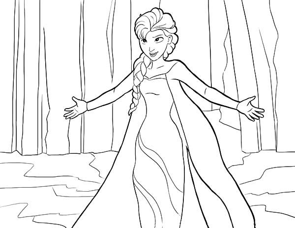 Frozen Coloring Pages Elsa Coronation : Elsa coronation day coloring pages