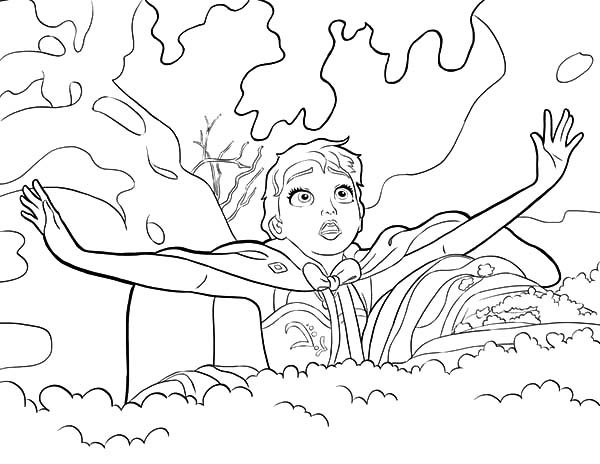Anna, : Princess Anna Trapped in the Snow Coloring Pages
