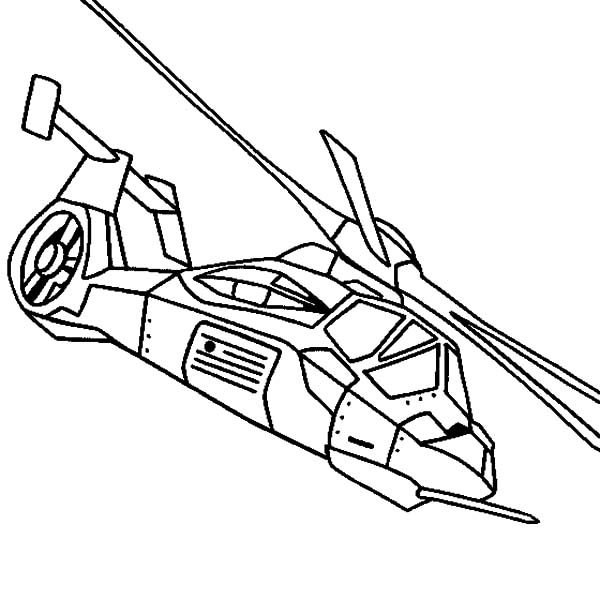 RAH 66 Comanche Apache Helicopter Coloring Pages