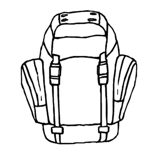 Backpack, : Ready to Hiking with Backpack Coloring Pages