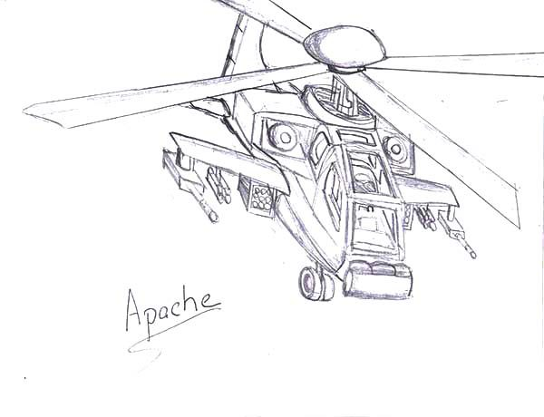 Apache Helicopter, : Rod Apache Helicopter Coloring Pages
