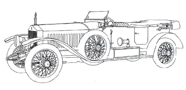 Antique Car, : Roll Royce Continental Antique Car Coloring Pages