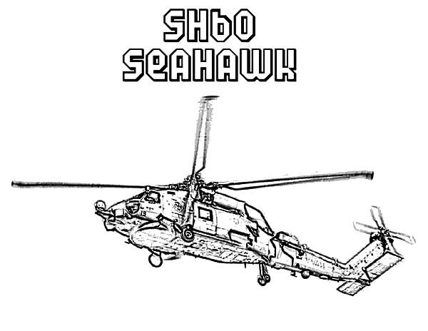 Apache Helicopter, : SH60 Seahawk Apache Helicopter Coloring Pages