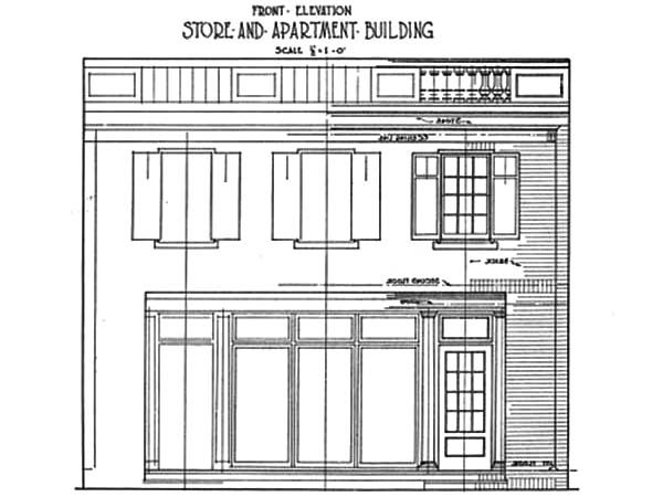 Apartment, : Store and Apartment Building Coloring Pages