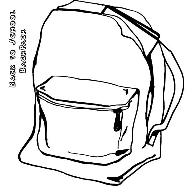 Backpack, : Study Backpack Coloring Pages