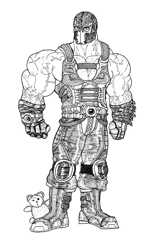 The Dark Knight Rises Bane Batman Coloring Pages